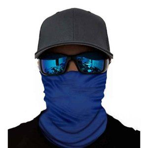 Other - Neck Gaiter Solid Blue Ski Mask Mouth Cover